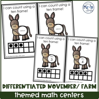 November/ Thanksgiving Themed Math Centers for ECE-K or Special Needs