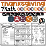 Thanksgiving Math Printables Grades 4-6 Performance Tasks