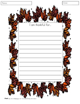 Thanksgiving Themed Math and Literacy Center Pack