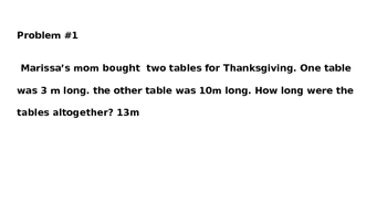 Thanksgiving Themed Measurement Word Problems for 2.MD.5
