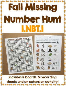 Fall Missing Number Boards NBT.1