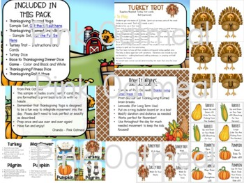Thanksgiving Themed Movement Games