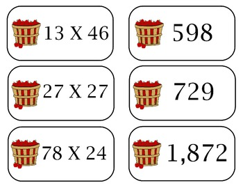 Thanksgiving Themed Multiplication Game