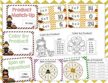 Thanksgiving Themed Multiplication Mini Bundle CC Aligned