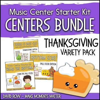 Thanksgiving Themed Music Center Starter Kit - Variety Pack Bundle