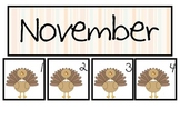 Thanksgiving Themed November Calendar Pieces