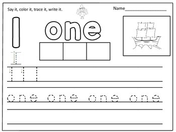 Thanksgiving Themed Number Words Worksheets (1-10):