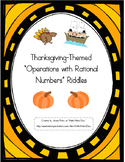 "Thanksgiving-Themed ""Operations with Rational Numbers"" Riddles"