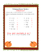 """Thanksgiving-Themed """"Operations with Rational Numbers"""" Riddles"""