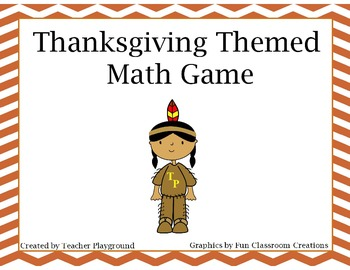 Thanksgiving Themed Percent % Game