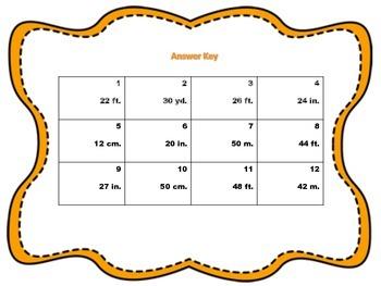 Thanksgiving Themed Perimeter Task Cards