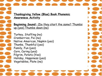 Thanksgiving-Themed Phonemic Awareness Activities