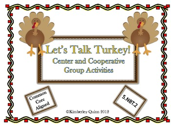 Thanksgiving Themed Place Value Activities (5.NBT.2)