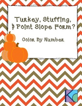 Thanksgiving Themed Point Slope Color By Number