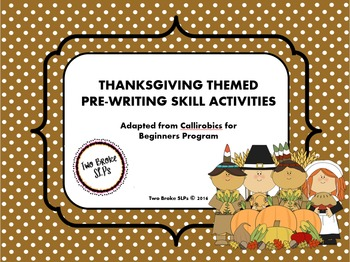 Thanksgiving Themed Pre-Writing Activities