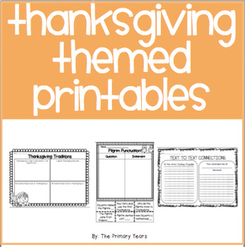 Thanksgiving Themed Printables