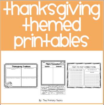 Thanksgiving Themed Printables