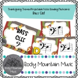 Thanksgiving Themed Digital Note Identification Flashcards Bass Clef