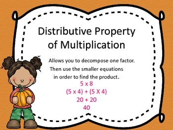 Fall Themed - Properties of Multiplication 3.OA.5