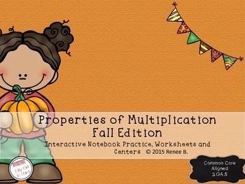 Fall Themed - Properties of Multiplication 3.OA.5