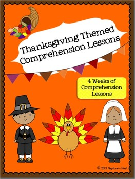 Thanksgiving Themed Reading Comprehension Unit-CC Aligned