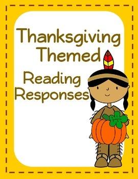 Free Thanksgiving Themed Reading Responses