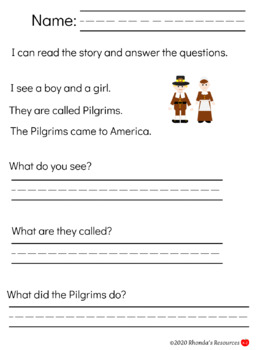 Thanksgiving Themed Resource for Grades K-2