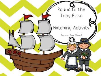 Thanksgiving Math Rounding Activity (Tens Version)