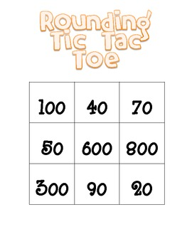 Thanksgiving Themed Rounding Tic Tac Toe (Common Core Aligned)