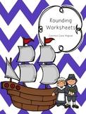 Thanksgiving Math Rounding Worksheets