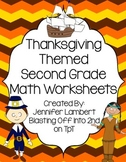 Thanksgiving Themed Second Grade Math Worksheet Pack