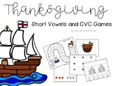 Thanksgiving Themed Short Vowels (a, e, i, o, u) Game
