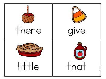 Thanksgiving Sight Word Game