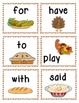 Thanksgiving Themed: Sight Word Write the Room