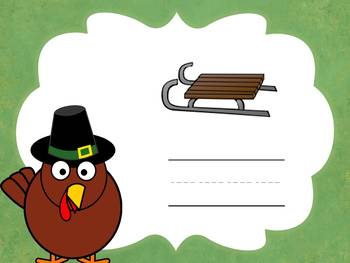 Thanksgiving CCVC Game: Spelling CCVC Words (Smartboard/Promethean Board)