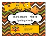 Thanksgiving Themed Vocabulary and Spelling Cards