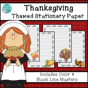 Thanksgiving Themed Stationery Paper