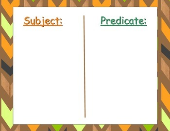 Thanksgiving Subject/Predicate Pack