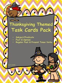 Thanksgiving Themed Task Card Bundle