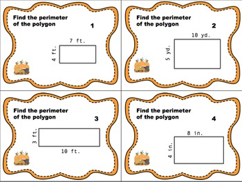 Thanksgiving Themed Area & Perimeter Task Card Bundle