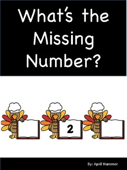 Thanksgiving Themed: What's the Missing Number A Skip Counting Math Center