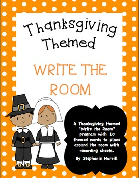 Thanksgiving Themed Write the Room