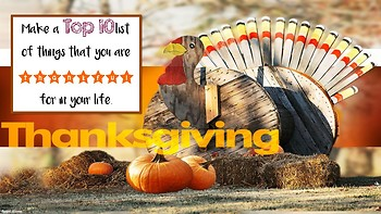 Thanksgiving Themed Writing Prompt Projection