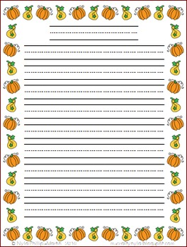 Thanksgiving Themed Writing Sheets