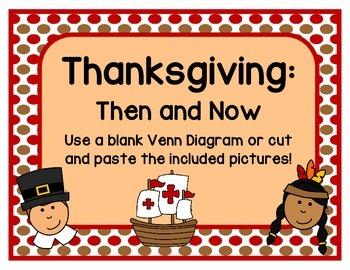 Thanksgiving - Then and Now Venn Diagram