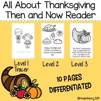 Thanksgiving Then and Now Reader Booklet