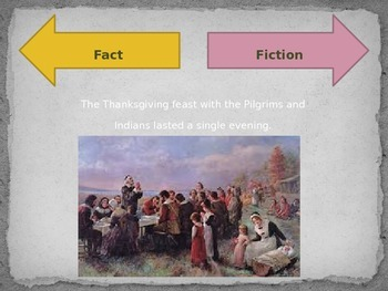 Thanksgiving Then and Now and Fact or Fiction