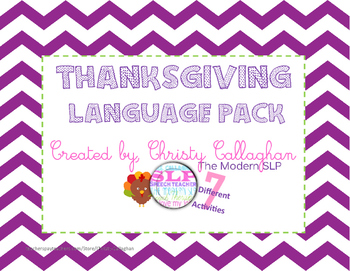 Thanksgiving Speech/Language Therapy Pack