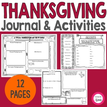 Thanksgiving Think Book Student Journal