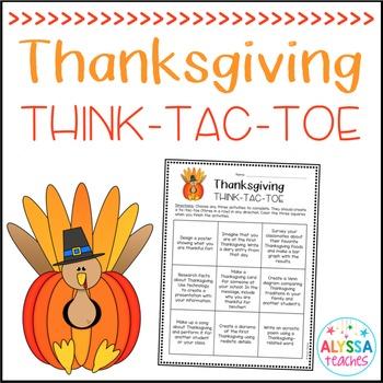 Thanksgiving Think-Tac-Toe
